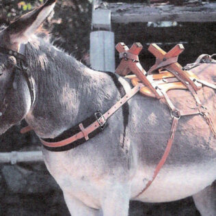 Donkey Pack Saddle with steel fittings and leather straps