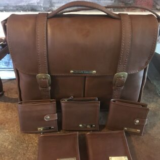 Leather Business Bag and Wallets