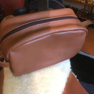 Men Leather Shower Bag
