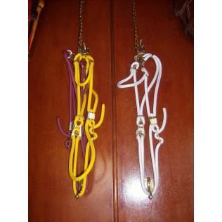 Rope Head Collar with choke chain